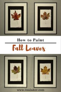 how to paint a fall leaf