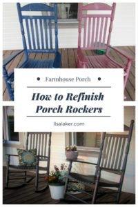 how to refinish porch rockers