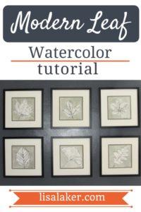 modern leaf tutorial