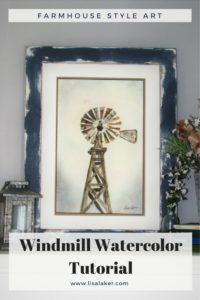 windmill watercolor tutorial
