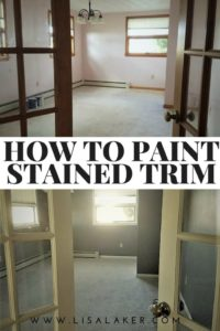 how to paint stained trim