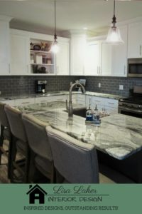 kitchen remodel white shaker cabinets viscount white granite gray subway tile