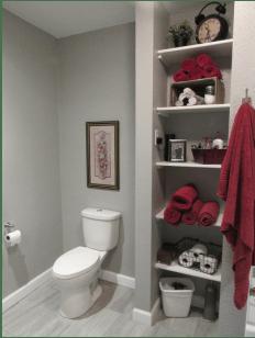 bathroom storage bathroom open shelving