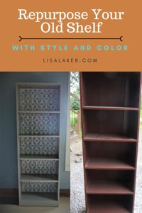 repurposed sauder shelf