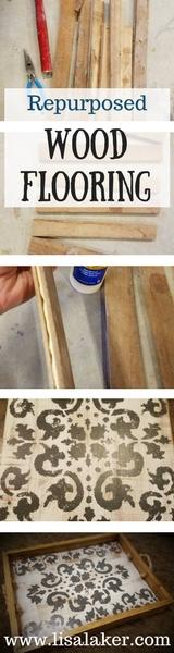 wood flooring tray