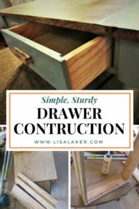 simple study drawer construction