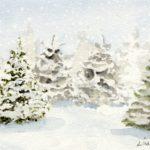 winter trees farmhouse style winter prints