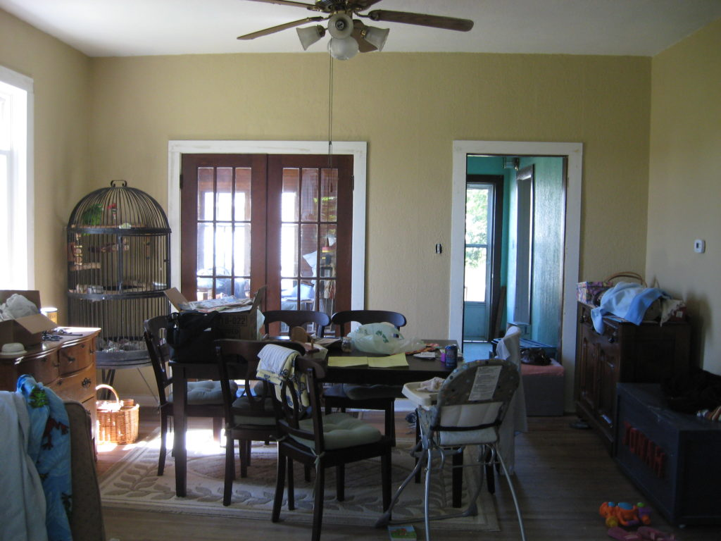 After We Had Gotten Our Livable And Had Settled In, I Started To Remodel  Our Home Room By Room. In The Dining Room, Since The French Doors Were  Stained, ...