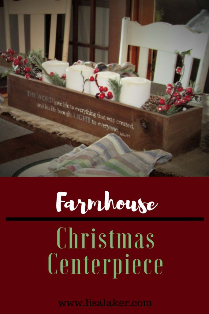 Farmhouse Christmas Centerpiece Diy Advent Wreath