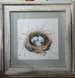 watercolor nest