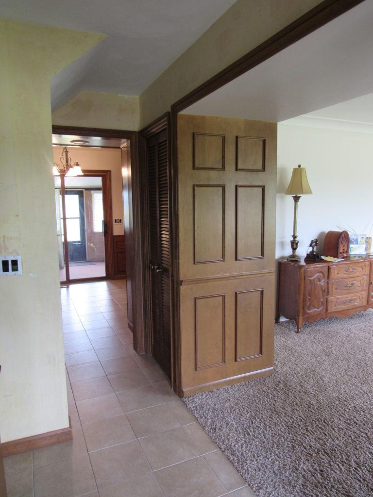 front door view before