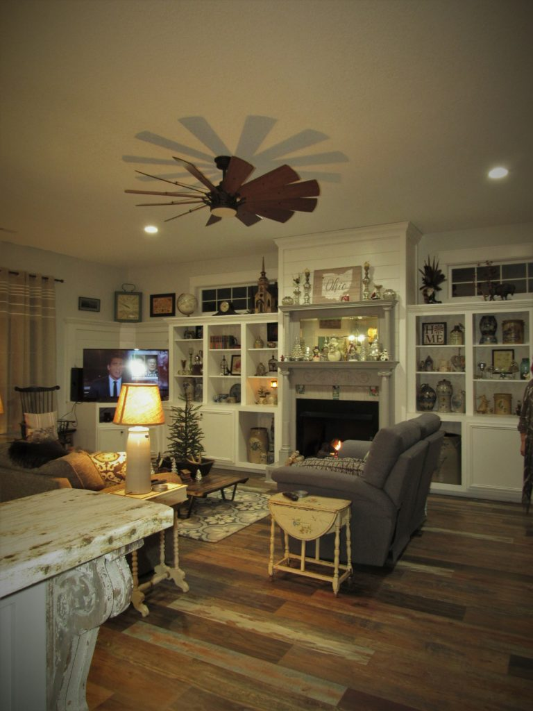 eclectic living room decorating with antiques